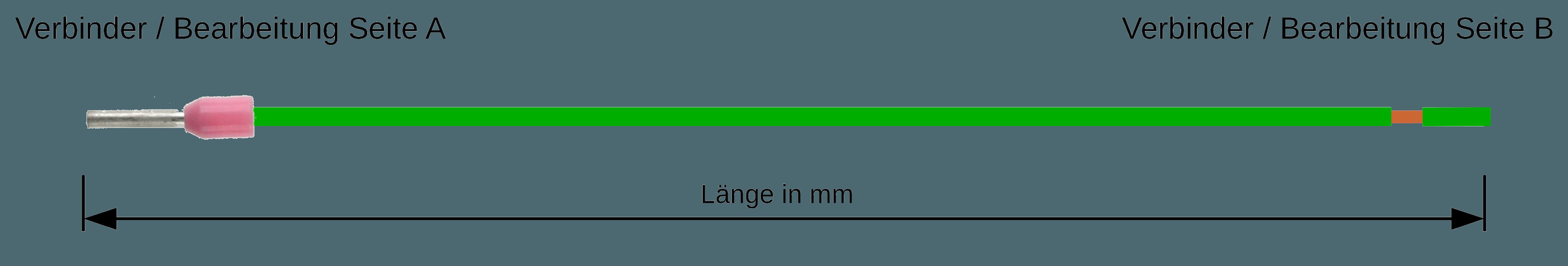 Einzelader LIY konfektioniert