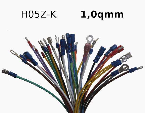 Konfektioniert H05Z-K 1,0qmm
