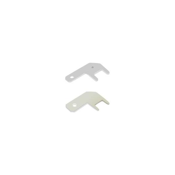 Flachstecker zum Einlöten abgewinkelt